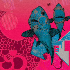 """Fish """"Scrub a Dub Luv"""" Album cover Illustration and Design"""