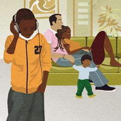 Parentline Plus' Brochure Illustrations