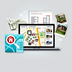 Web illustrations for Property Engine's Products
