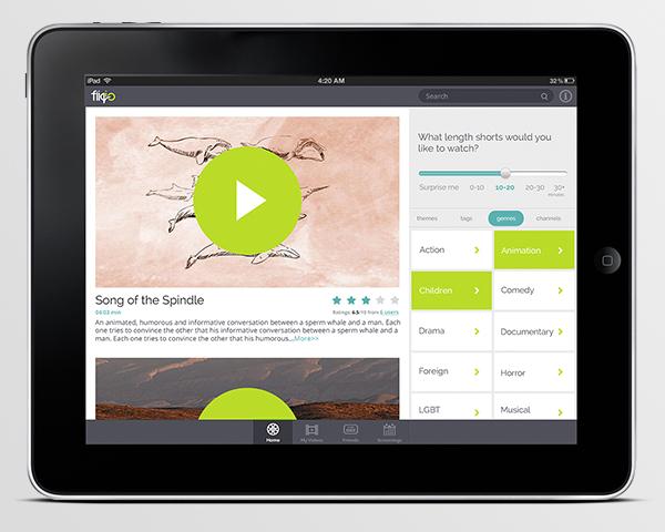 ipad app interface
