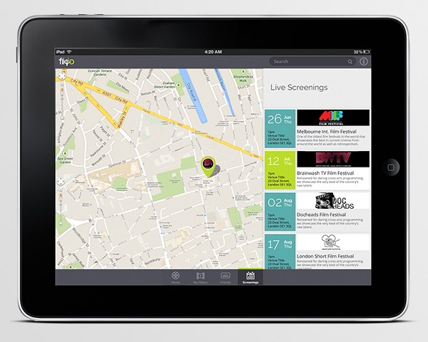ipad map interface