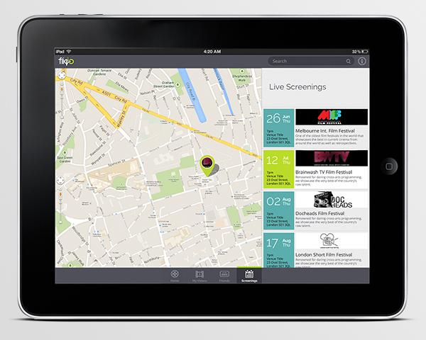 ipad map interface