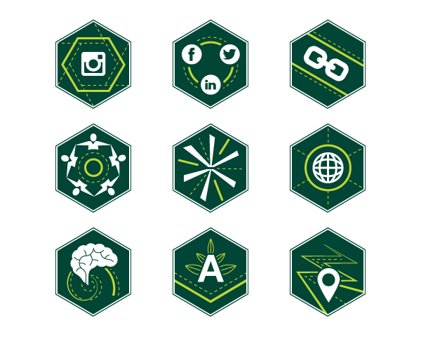 green building app icons