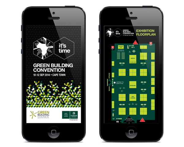 green building convention app screen design