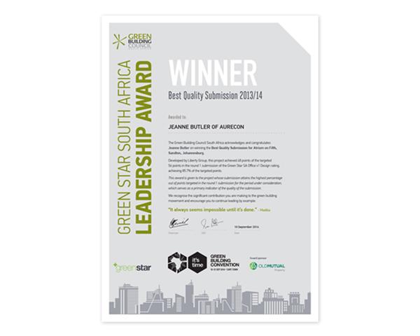 leadership award certificate design