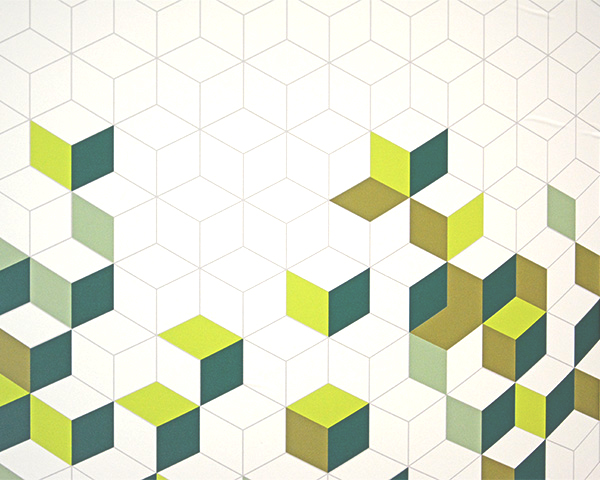 hexagonal pattern using corporate colours
