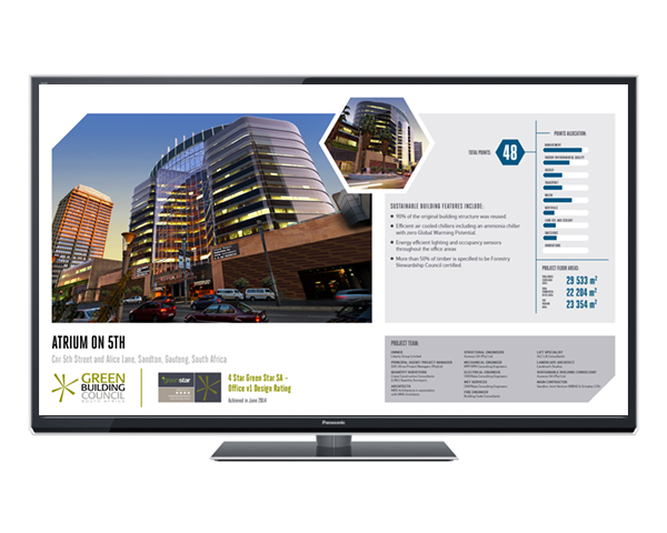displaying a case study on a tv screen
