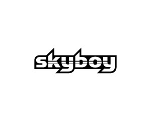 robotic typeface design for the skyboy brand